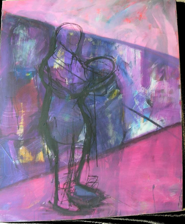 Acrylic Painting - Urban Figure by Karen Geiger