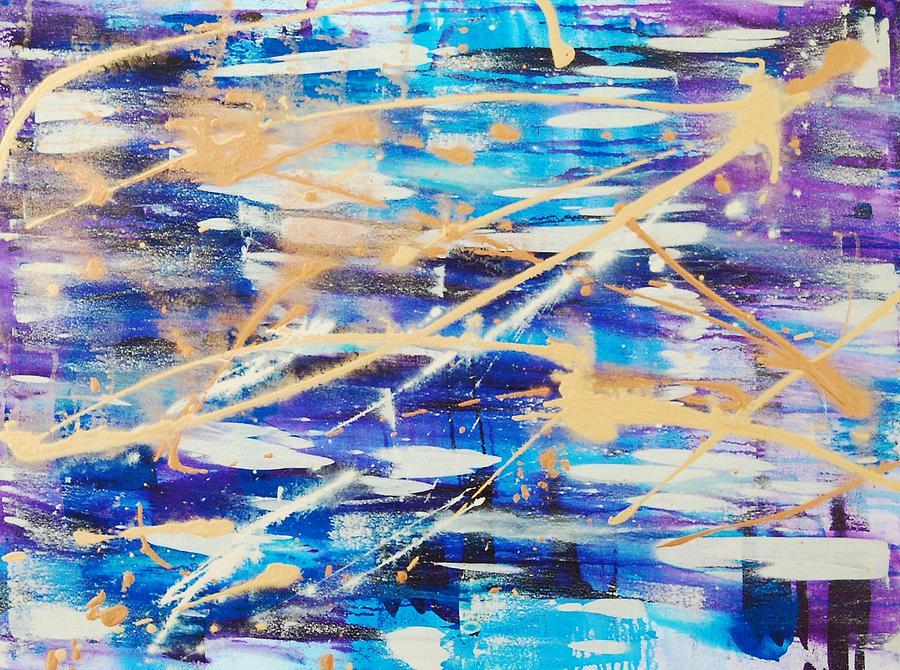 Abstract Painting - Urban Footprint by Lauren Luna