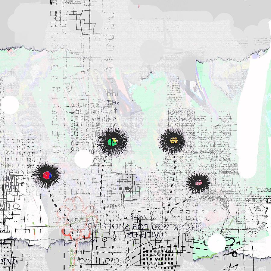 City Garden Digital Art - Urban Garden 2 by Andy  Mercer