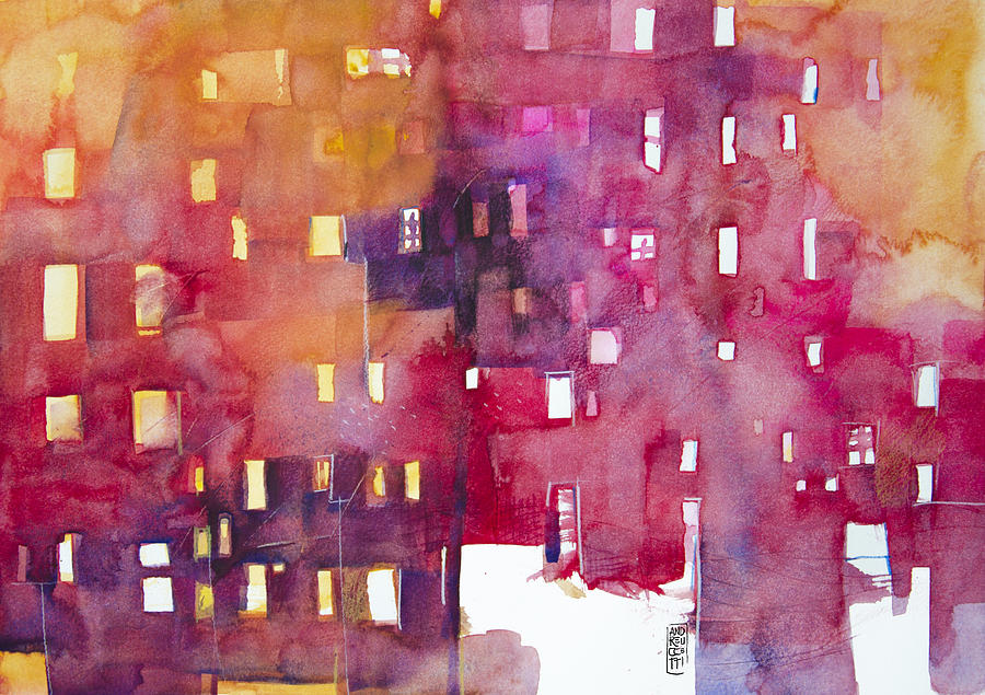 Cityscape Painting - Urban Landscape 3 by Alessandro Andreuccetti
