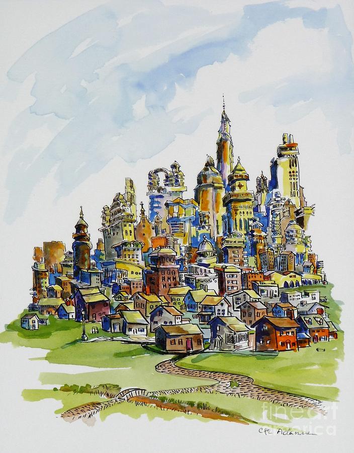 Urban Landscape by CHERYL EMERSON ADAMS