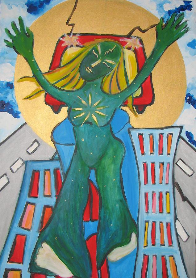 City Painting - Urban Legends Ny by Krisztina Asztalos