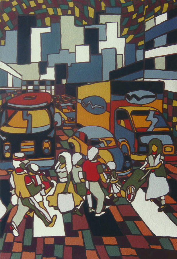 City Painting - Urban Music I V by Muniz Filho