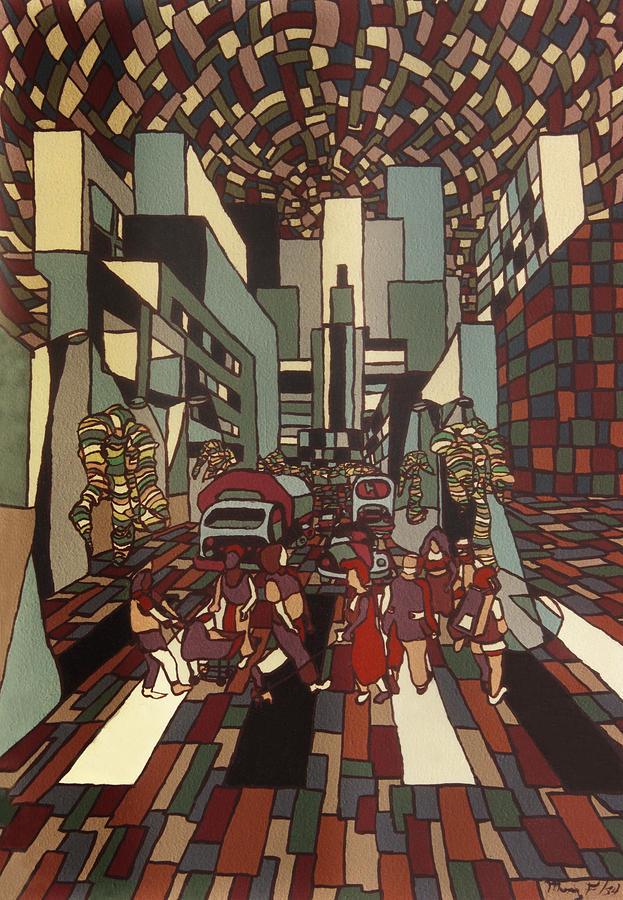 City Painting - Urban Music Vl by Muniz Filho