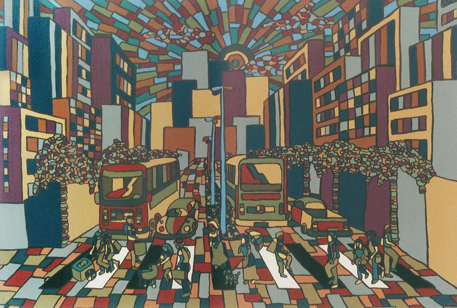 City Painting - Urban Music Xll by Muniz Filho