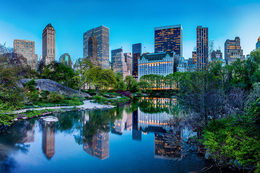 Central Park Photograph - Urban Oasis by Az Jackson