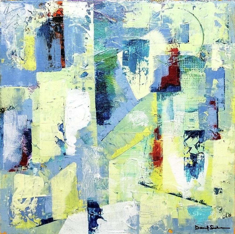 Abstract Painting - Urban Patterns 1 by Dan Sisken
