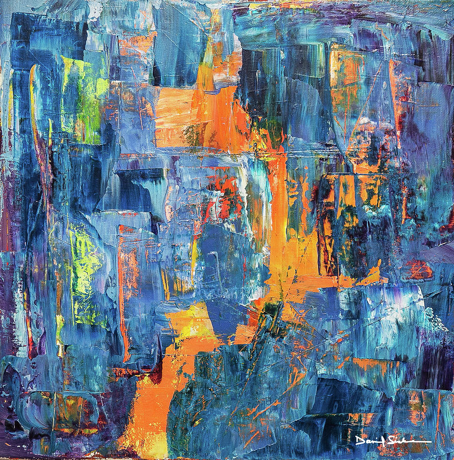 Abstract Painting - Urban Patterns 5 by Dan Sisken