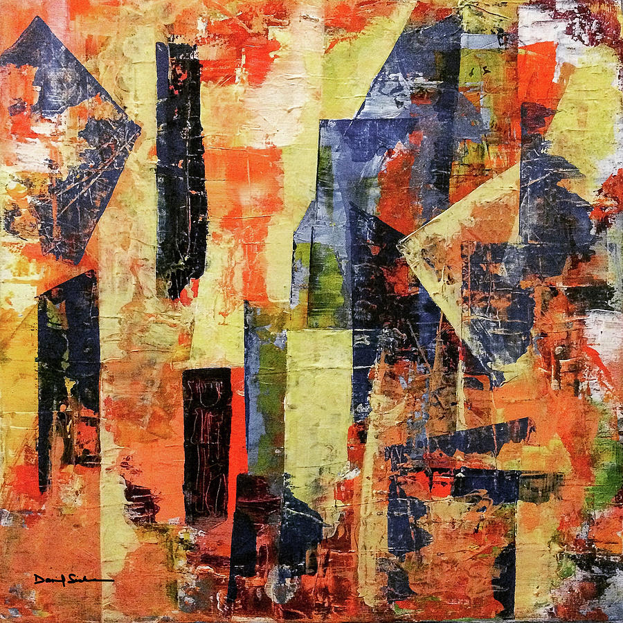 Abstract Painting - Urban Patterns 7 by Dan Sisken