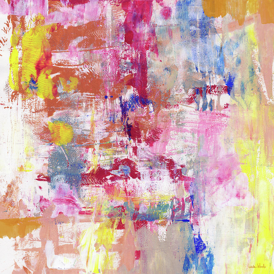 Abstract Painting - Urban Picnic 2- Abstract Art By Linda Woods by Linda Woods