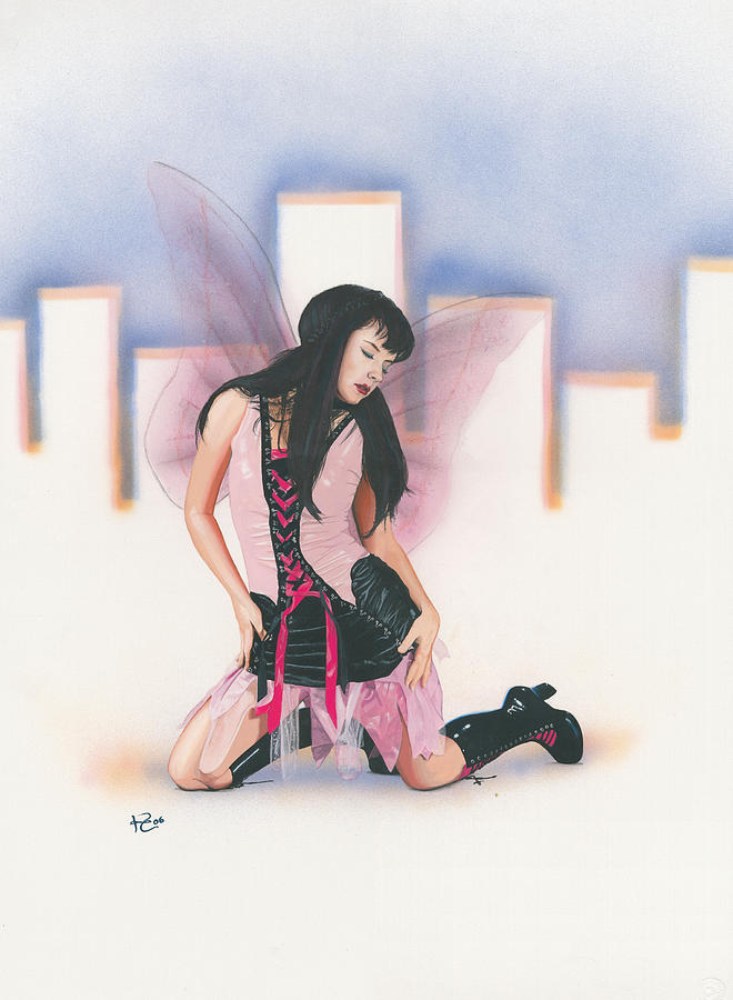 Fantasy Painting - Urban Pixie by Kevin Clark