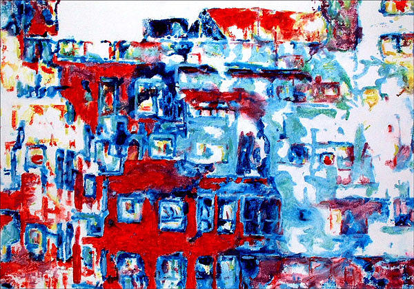 Abstract Painting - Urban Scenery by Keith  Webb