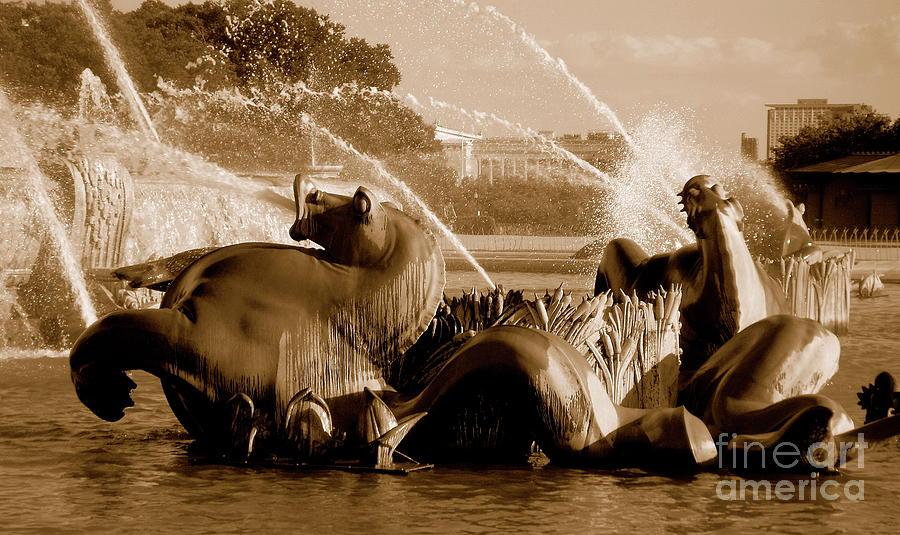 Fountain Photograph - Urban Seahorse by Amy Strong