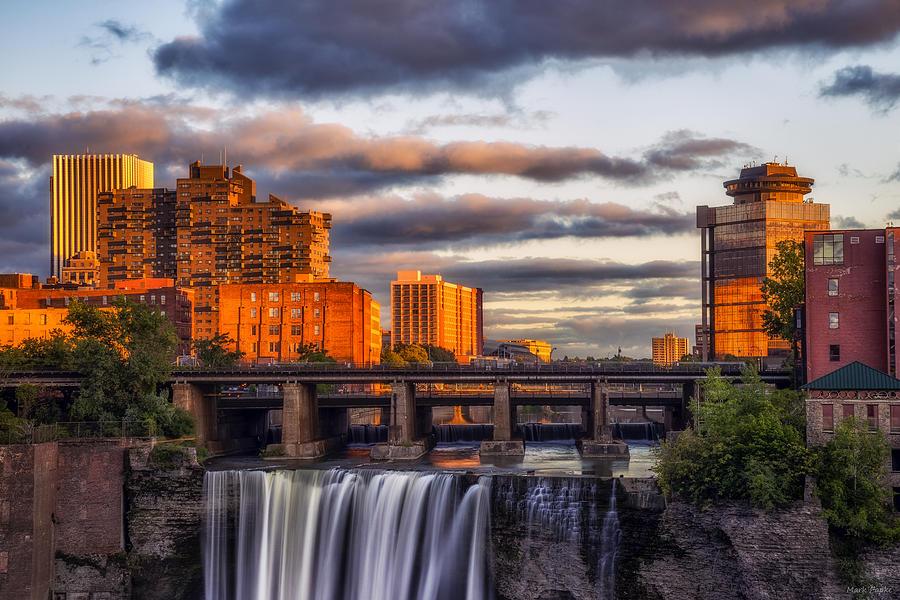 Horizontal Photograph - Urban Waterfall by Mark Papke