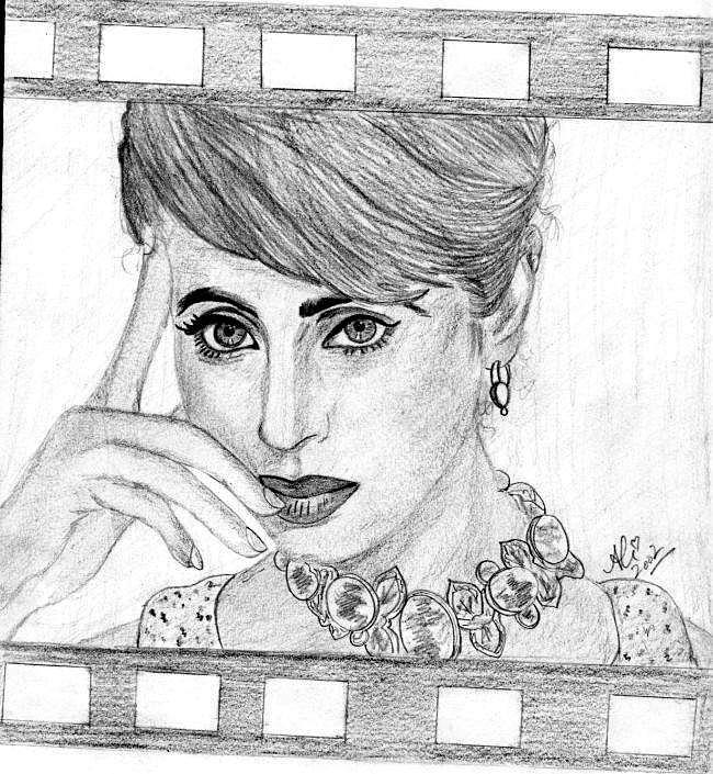 Urmila Drawing by Bobby Dar