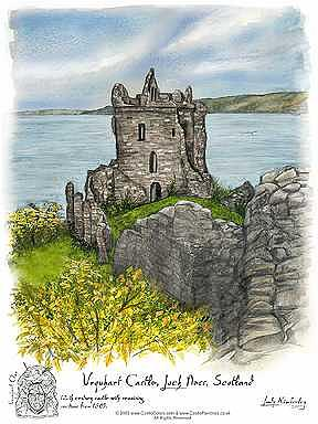 England Painting - Urquart Castle - Scotland by Kimberley Reid