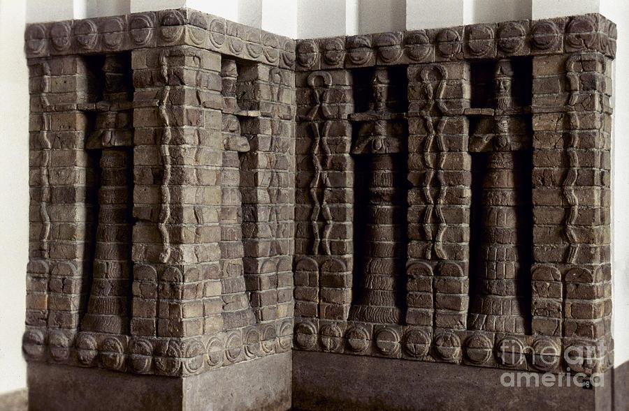 Ancient Photograph - Uruk: Innin Temple Facade by Granger