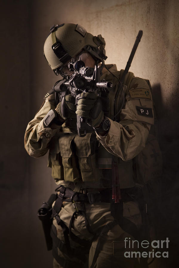 Special Operations Forces Photograph - U.s. Air Force Csar Parajumper Armed by Tom Weber