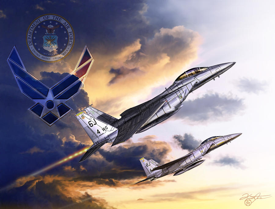F-15 Digital Art - Us Air Force by Kurt Miller