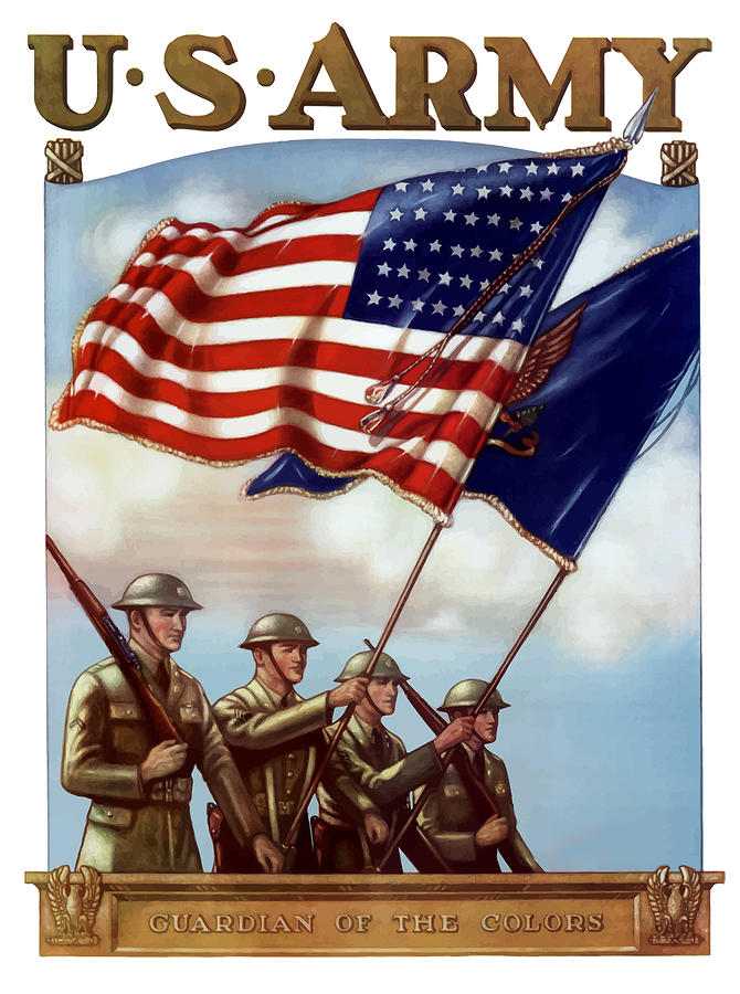 Us Army Painting - Us Army -- Guardian Of The Colors by War Is Hell Store