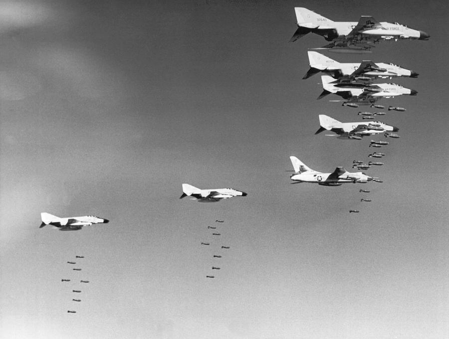1960s Photograph - U.s. Bombing North Vietnam by Underwood Archives