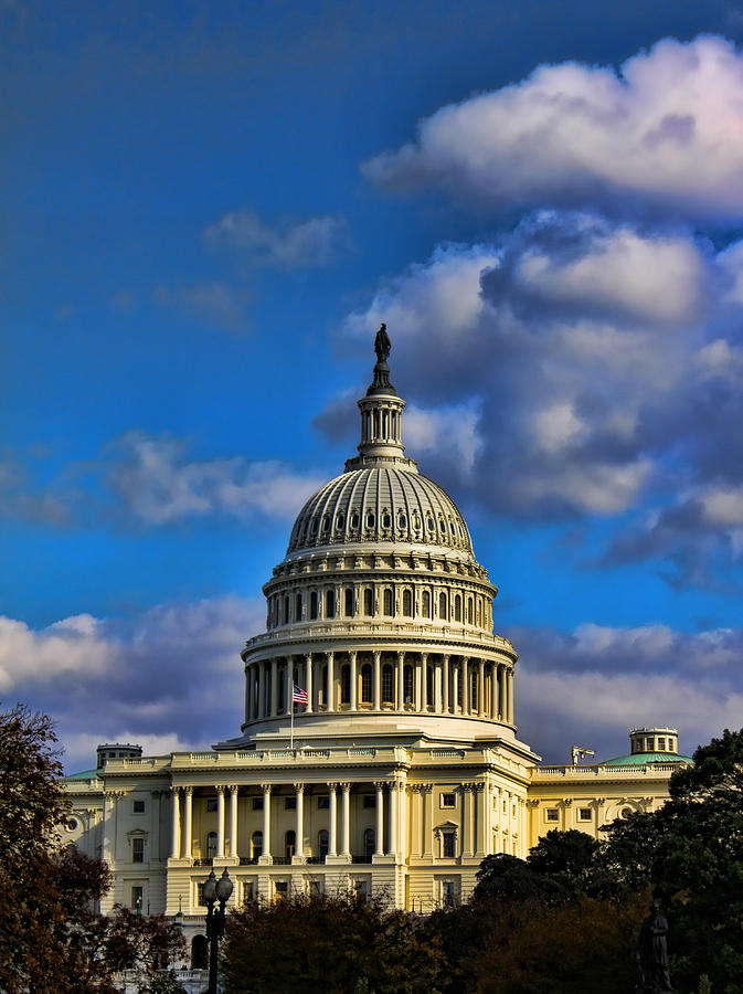 Us Photograph - Us Capital  by Brian Governale