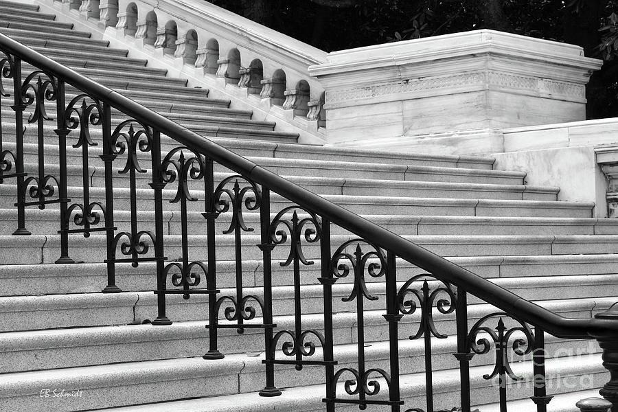 Washington Dc Photograph - United States Capital Steps by E B Schmidt