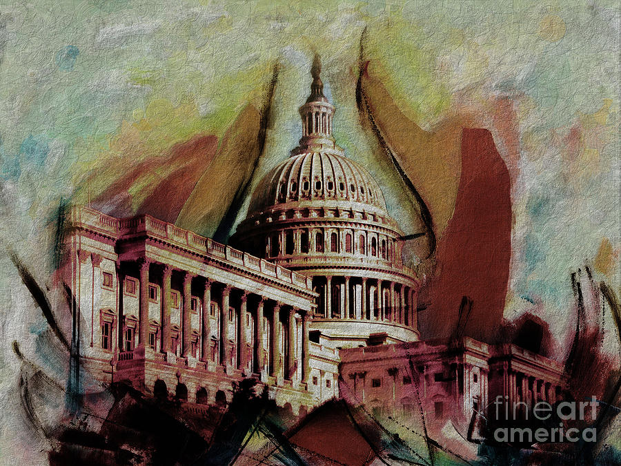 Capital Painting - Capitol Building, Washington, D.c-004 by Gull G