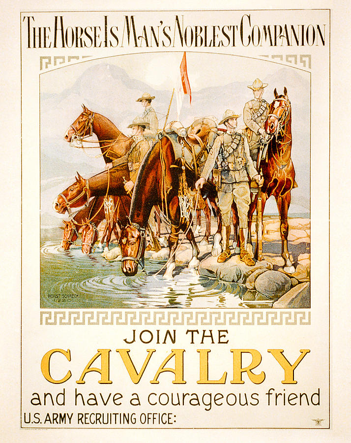 Antique Digital Art - US Cavalry Poster by Janice OConnor