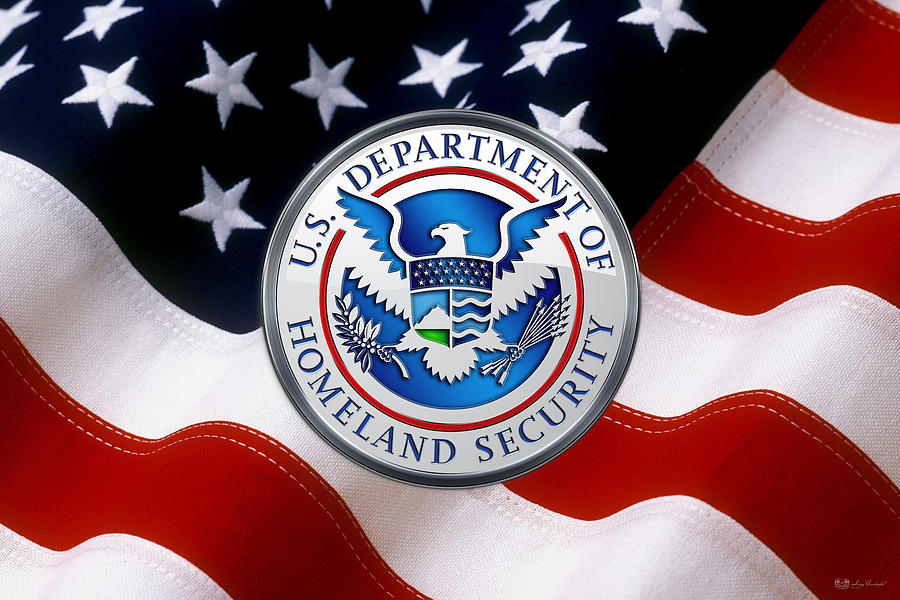 U S Department Of Homeland Security D H S Emblem Over American