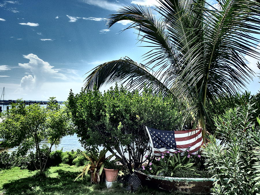 Bahamas Photograph - US Flag in the Abaco Islands, Bahamas by Cindy Ross