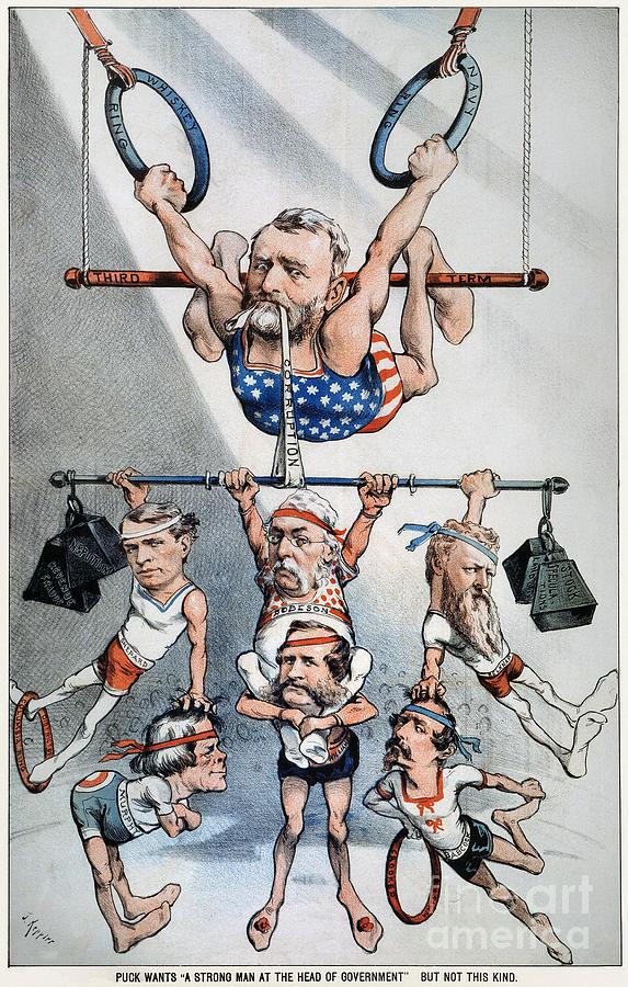 1880 Photograph - U.s. Grant Cartoon, 1880 by Granger