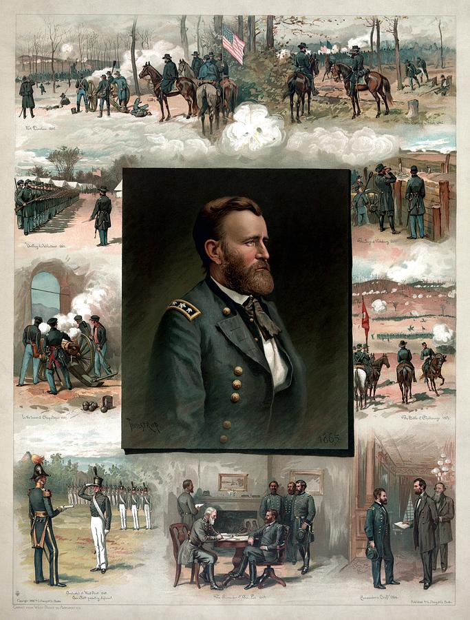 President Grant Painting - US Grants Career In Pictures by War Is Hell Store