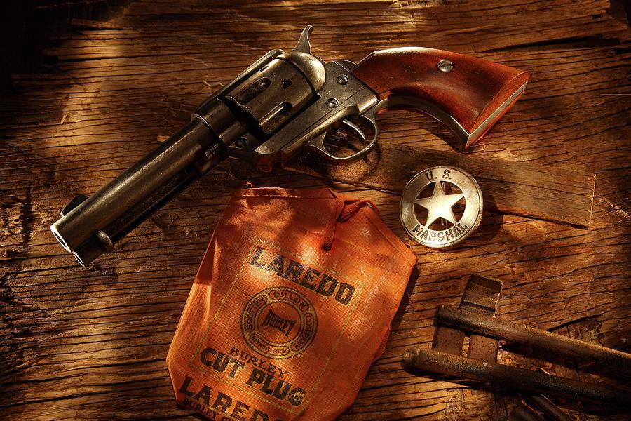 Us Marshal Photograph - Us Marshal Laredo by Daniel Alcocer