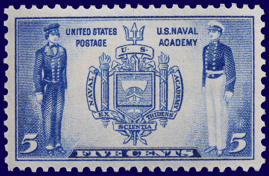 Us Naval Academy Postage Stamp Photograph by James Hill