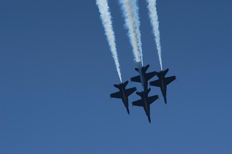 Military Planes Photograph - Us Navy Blue Angels by Cheryl D