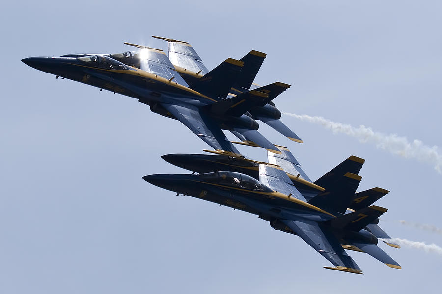 Us Navy Photograph - Us Navy Blue Angels In Formation by Dustin K Ryan