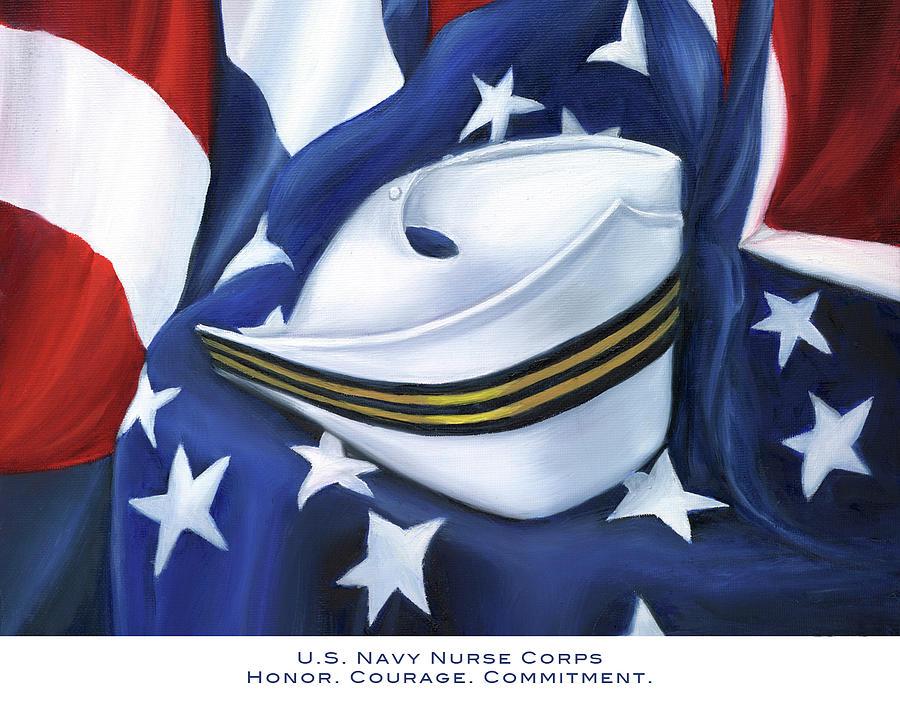 Nurse Painting - U.s. Navy Nurse Corps by Marlyn Boyd