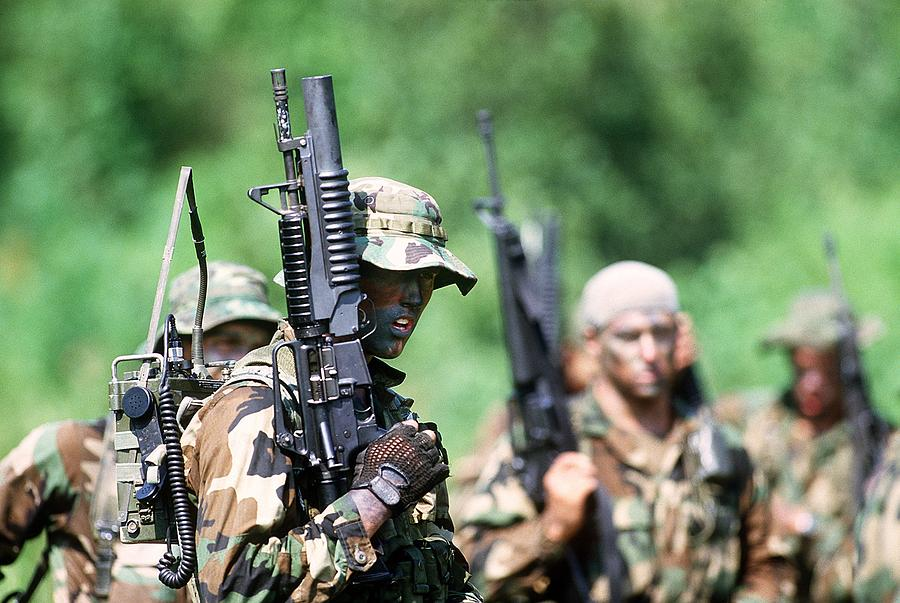 History Photograph - Us Navy Seals In Warfare Training by Everett