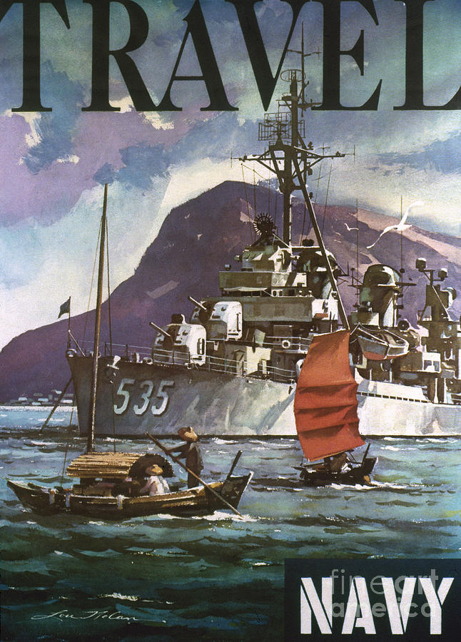 1930s Photograph - U.s. Navy Travel Poster by Granger