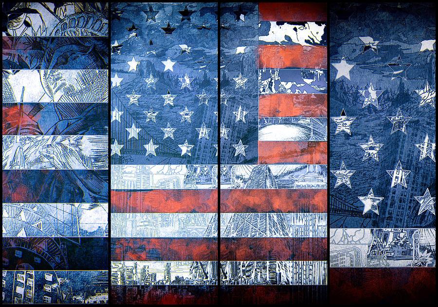 Usa Flag 11 Painting