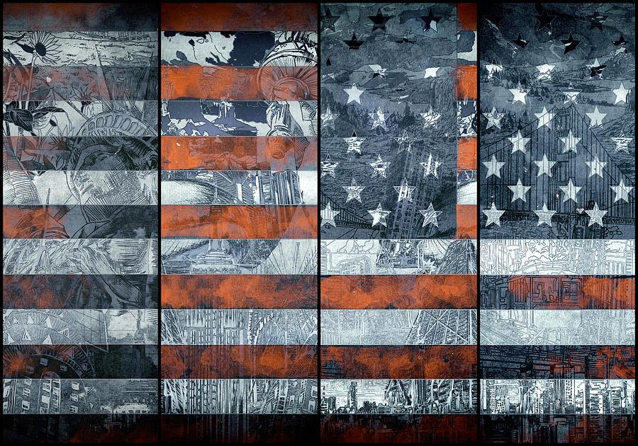 Usa Flag 12 Painting