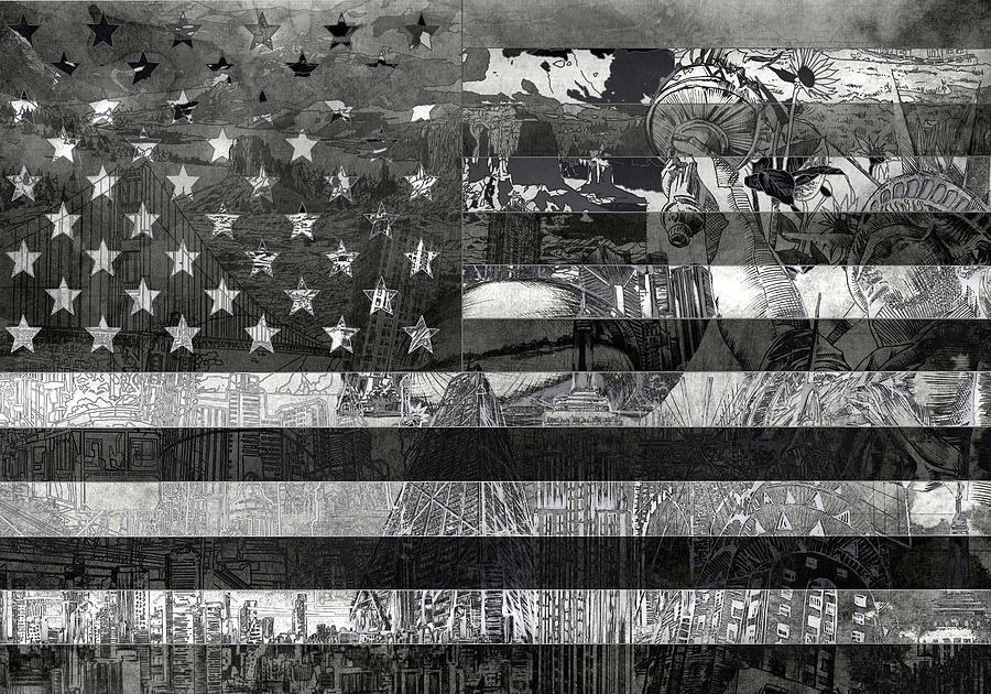 Usa Flag 4 Painting