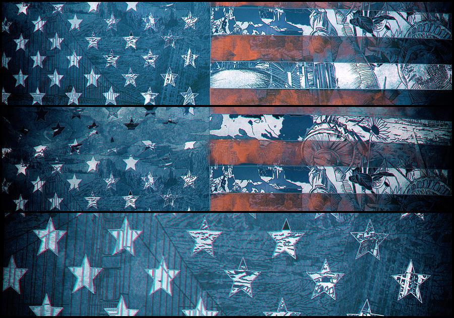 Usa Flag 8 Painting