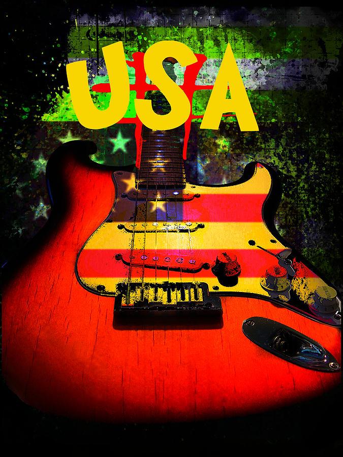 Strat Photograph - Usa Guitar Music by Guitar Wacky