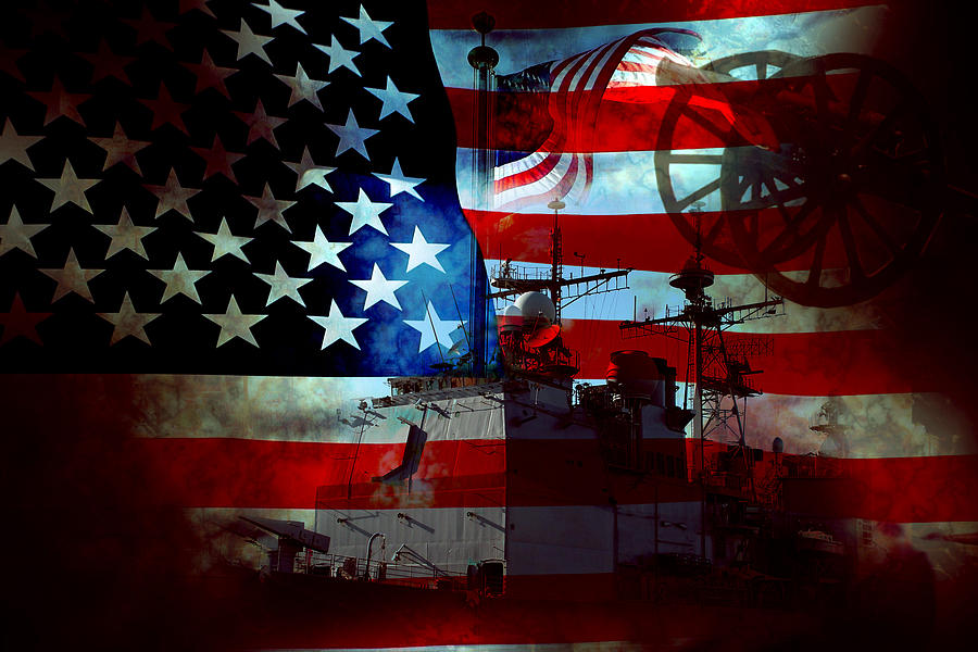 War Photograph - Usa Patriot Flag And War by Phill Petrovic