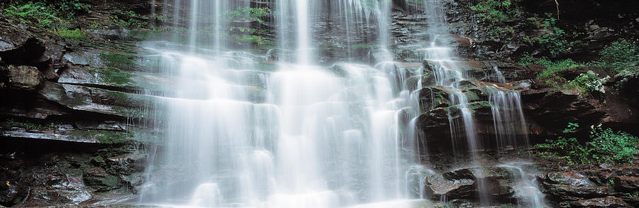 Color Image Photograph - Usa, Pennsylvania, Ganoga Falls by Panoramic Images