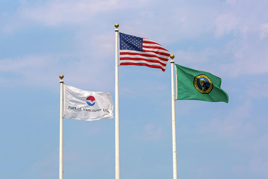 USA Port of Vancouver Washington Flags by Jit Lim