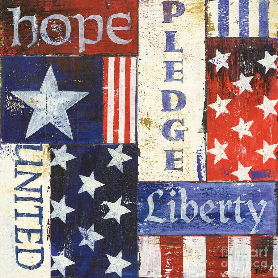 Hope Painting - Usa Pride 1 by Debbie DeWitt