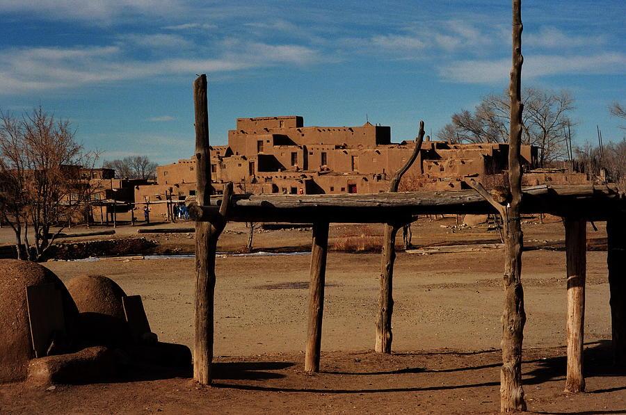 Taos Pueblo Photograph - Usa - Taos Pueblo New Mexico by Jacqueline M Lewis